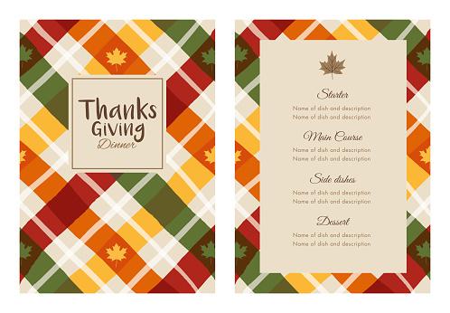 Thanksgiving Dinner Invitation Template.