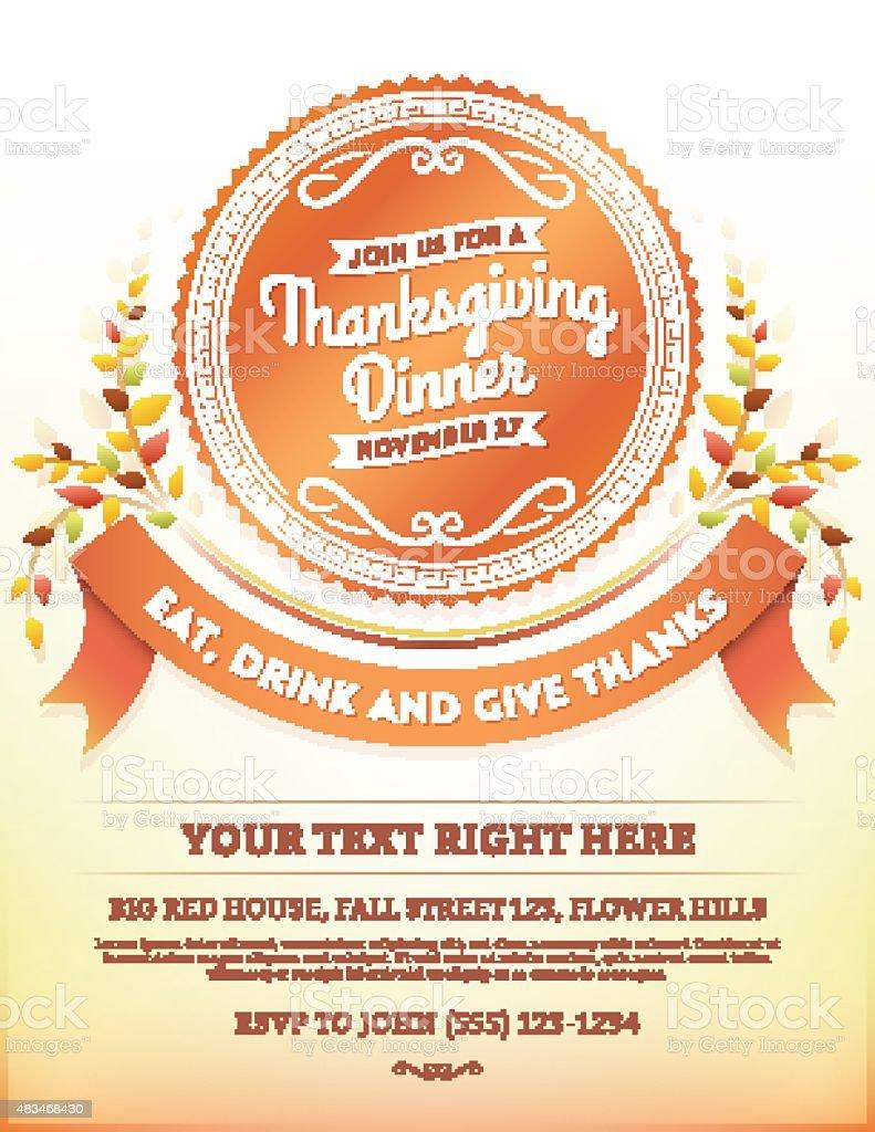 Thanksgiving Dinner Invitation Template Radiotodorock