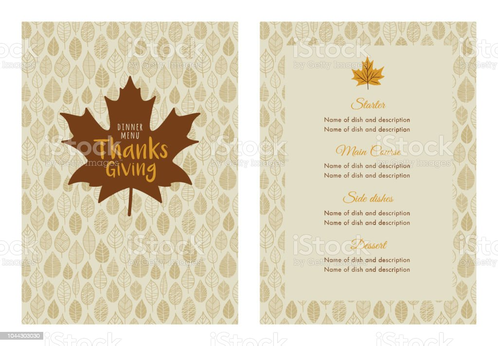 thanksgiving dinner menu template stock vector art more images of
