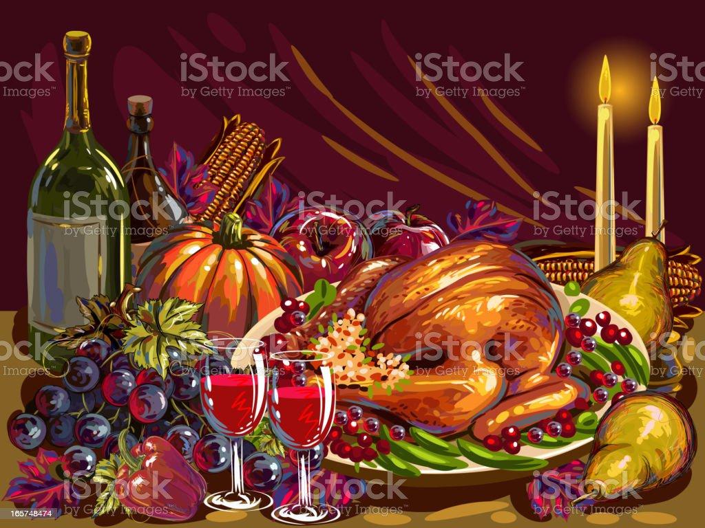 Thanksgiving Dinner royalty-free thanksgiving dinner stock vector art & more images of apple - fruit