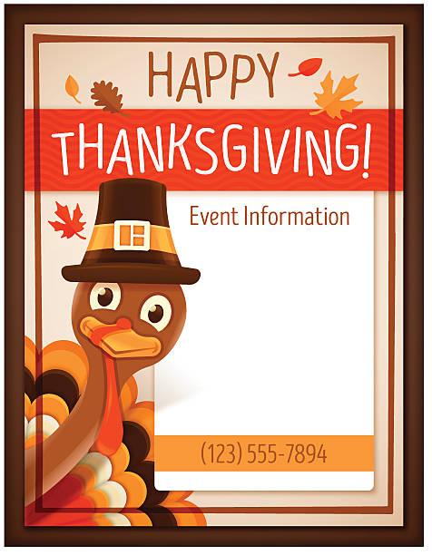 день благодарения явление плакат - thanksgiving turkey stock illustrations