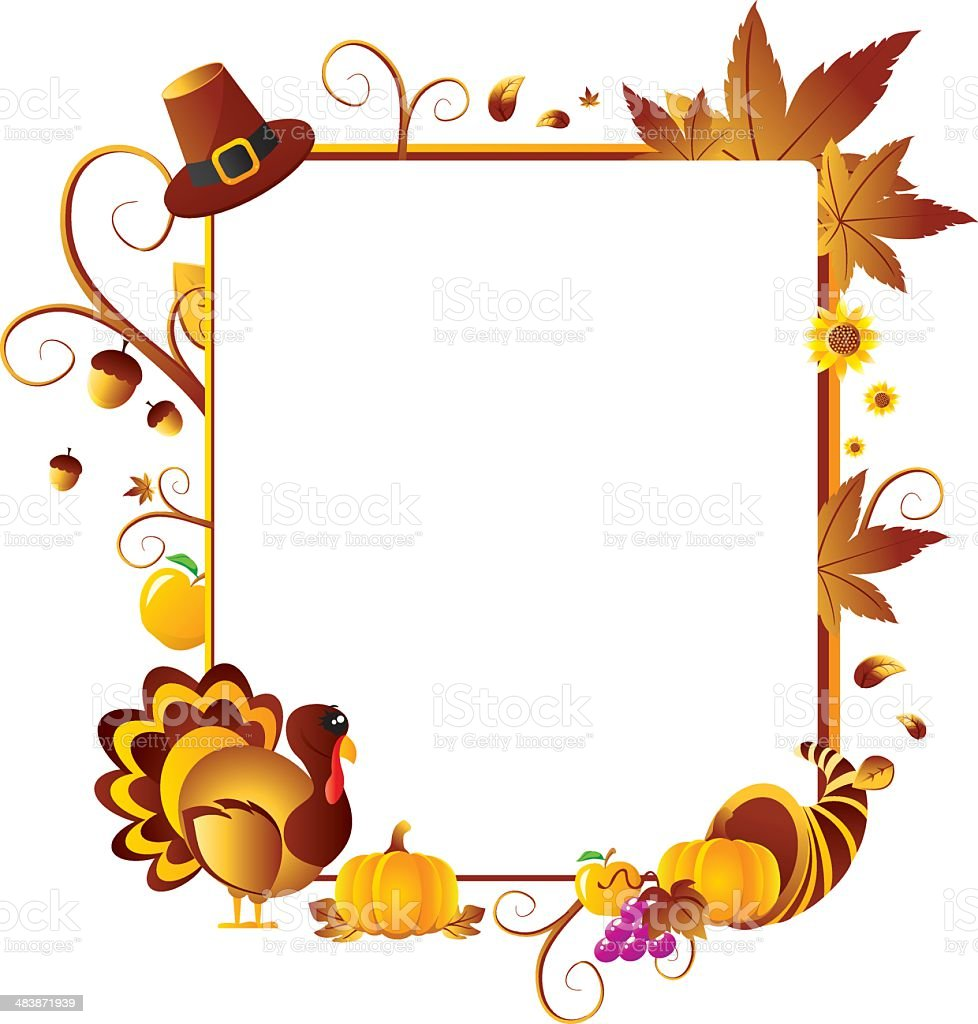 Thanksgiving Frames Clip Art - Real Clipart And Vector Graphics •