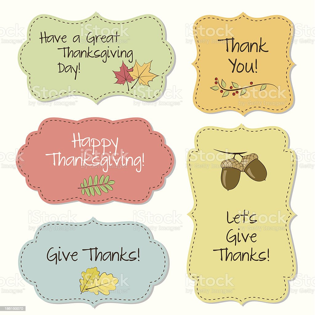 Thanksgiving Frames Stock Vector Art & More Images of Acorn ...