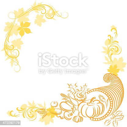 Thanksgiving Frames Stock Vector Art & More Images of Agriculture ...