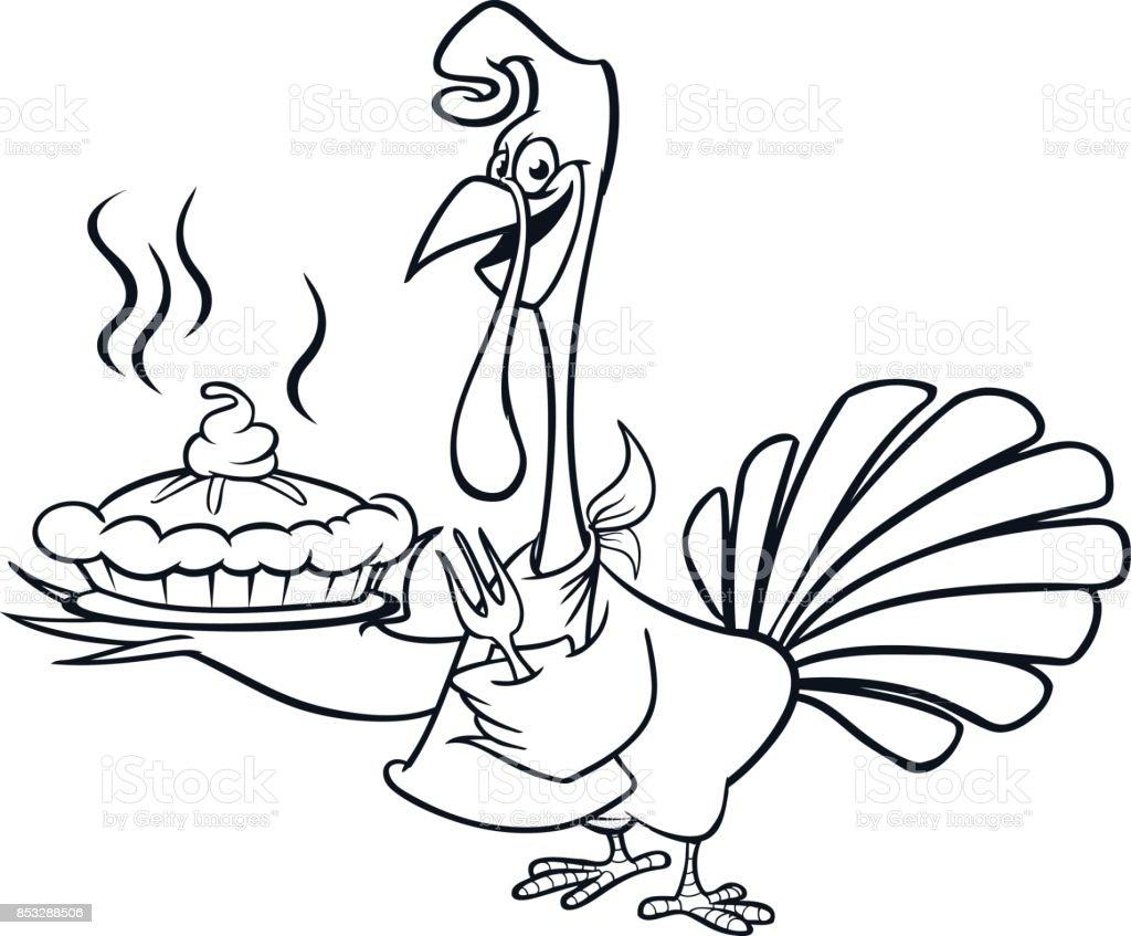 Ilustración de Acción De Gracias Dibujos Animados Divertidos Turquía ...