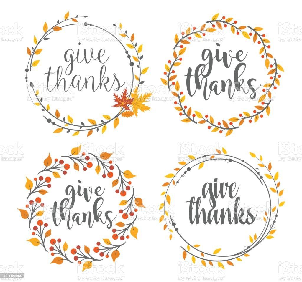 Thanksgiving Abzeichen Gruß – Vektorgrafik
