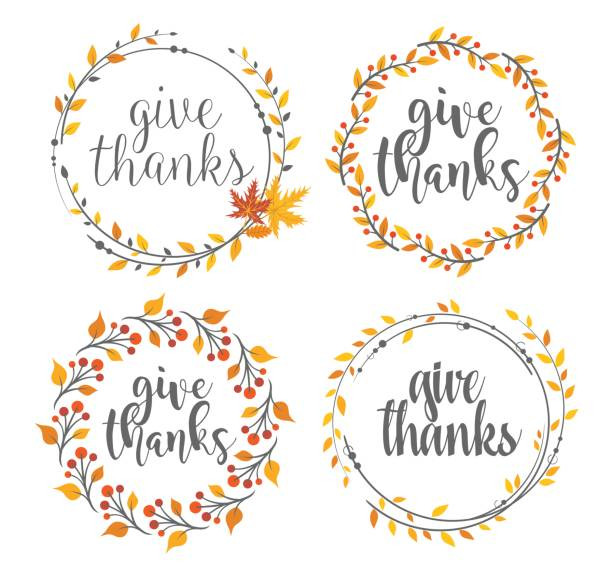 Thanksgiving greeting badges vector art illustration