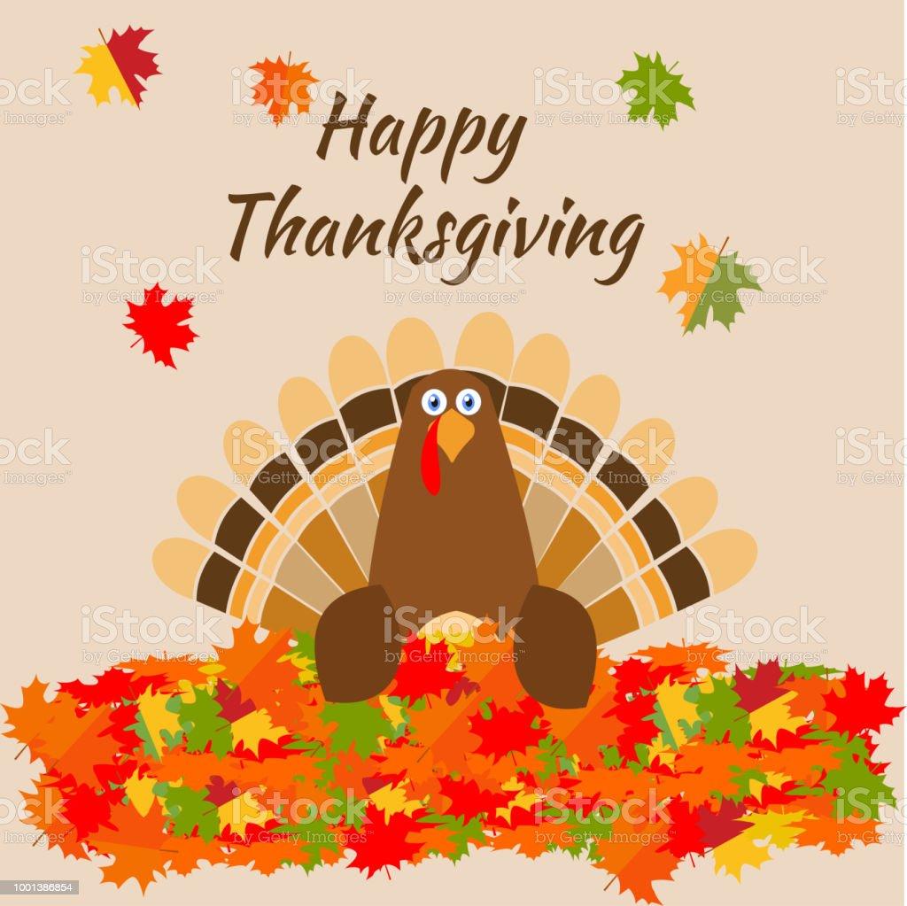 Thanksgiving greeting card turkey bird pilgrim hat funny cartoon thanksgiving greeting card turkey bird pilgrim hat funny cartoon character holiday vector illustration maple m4hsunfo