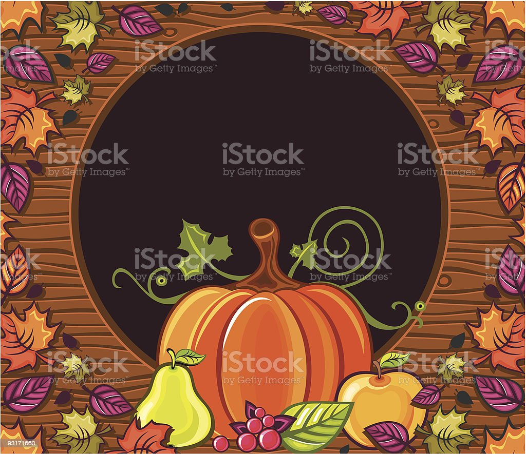 Thanksgiving greeting card royalty-free stock vector art