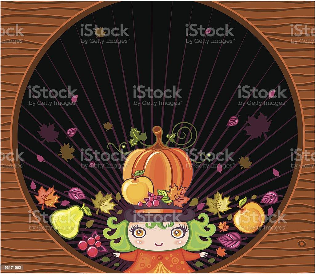 Thanksgiving greeting card royalty-free stock vector art