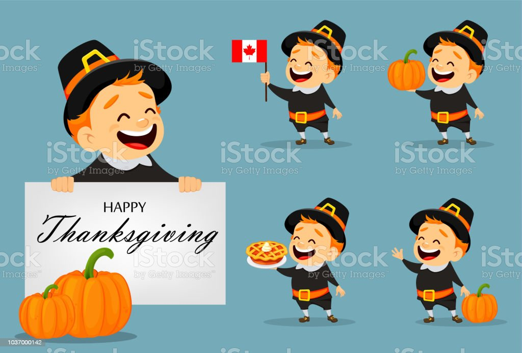 Thanksgiving greeting card with Canadian man