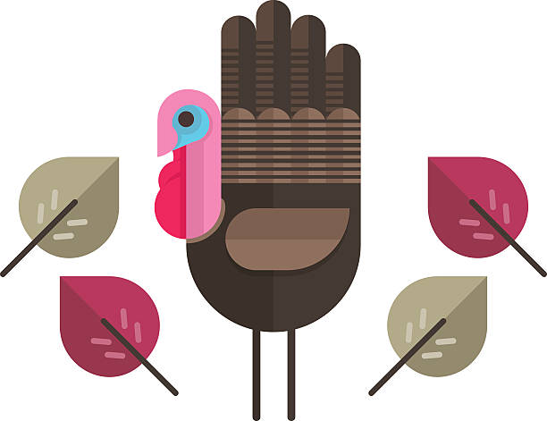 Thanksgiving Hand Turkey vector art illustration