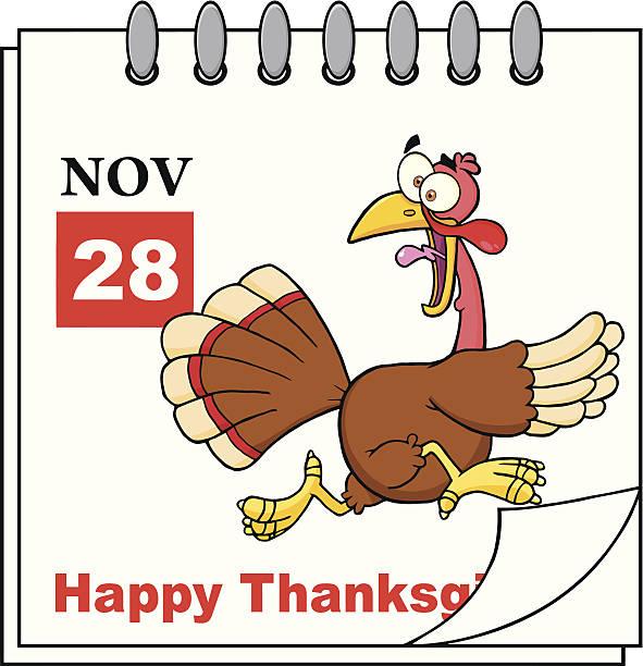 感謝祭の祝日カレンダーにカットイラスト、トルコのくつろぎ - 野生動物のカレンダー点のイラスト素材/クリップアート素材/マンガ素材/アイコン素材