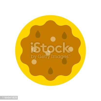 thanksgiving icon related set pie in flat design.
