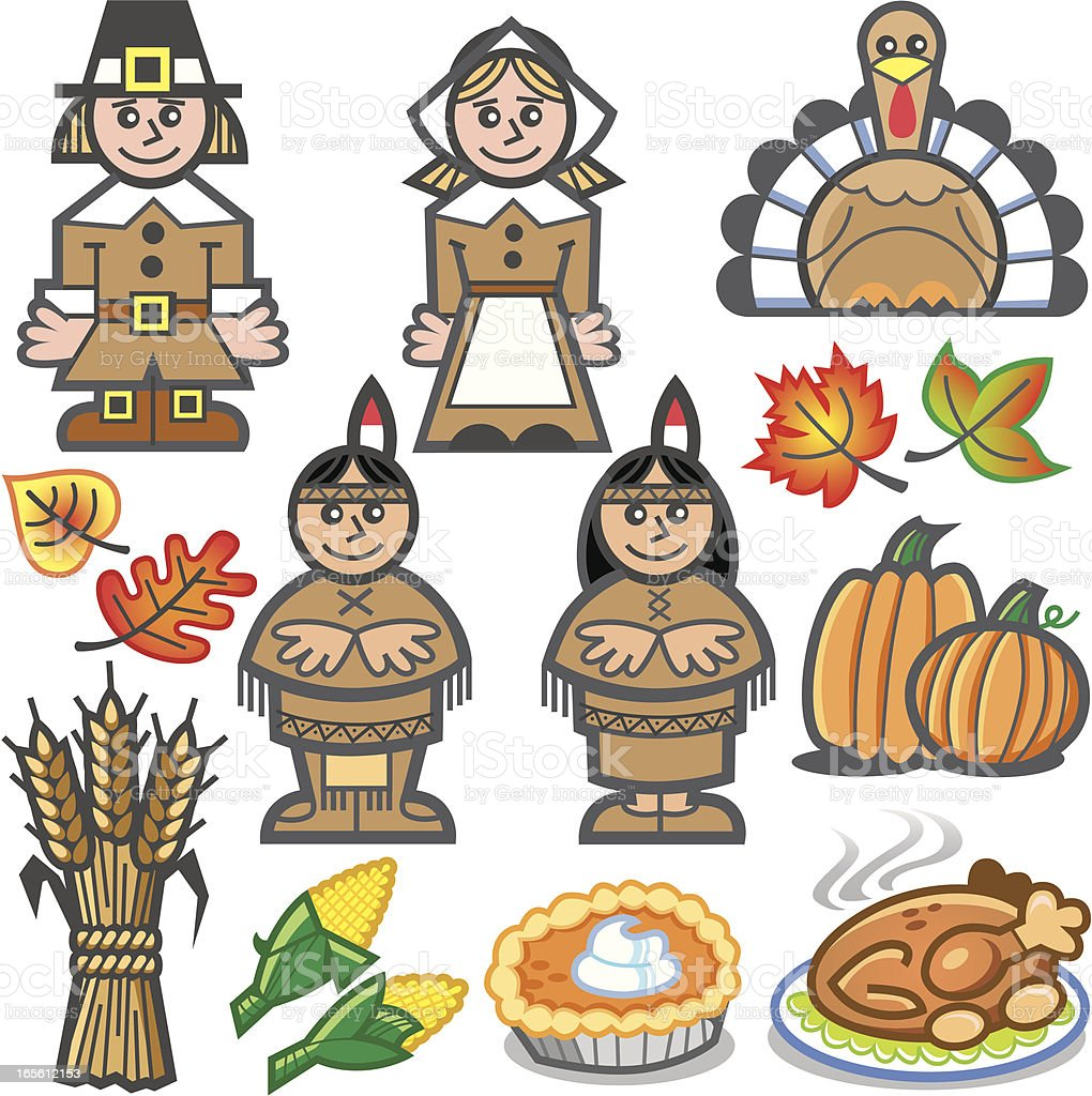 thanksgiving icon set royalty-free thanksgiving icon set stock vector art & more images of autumn