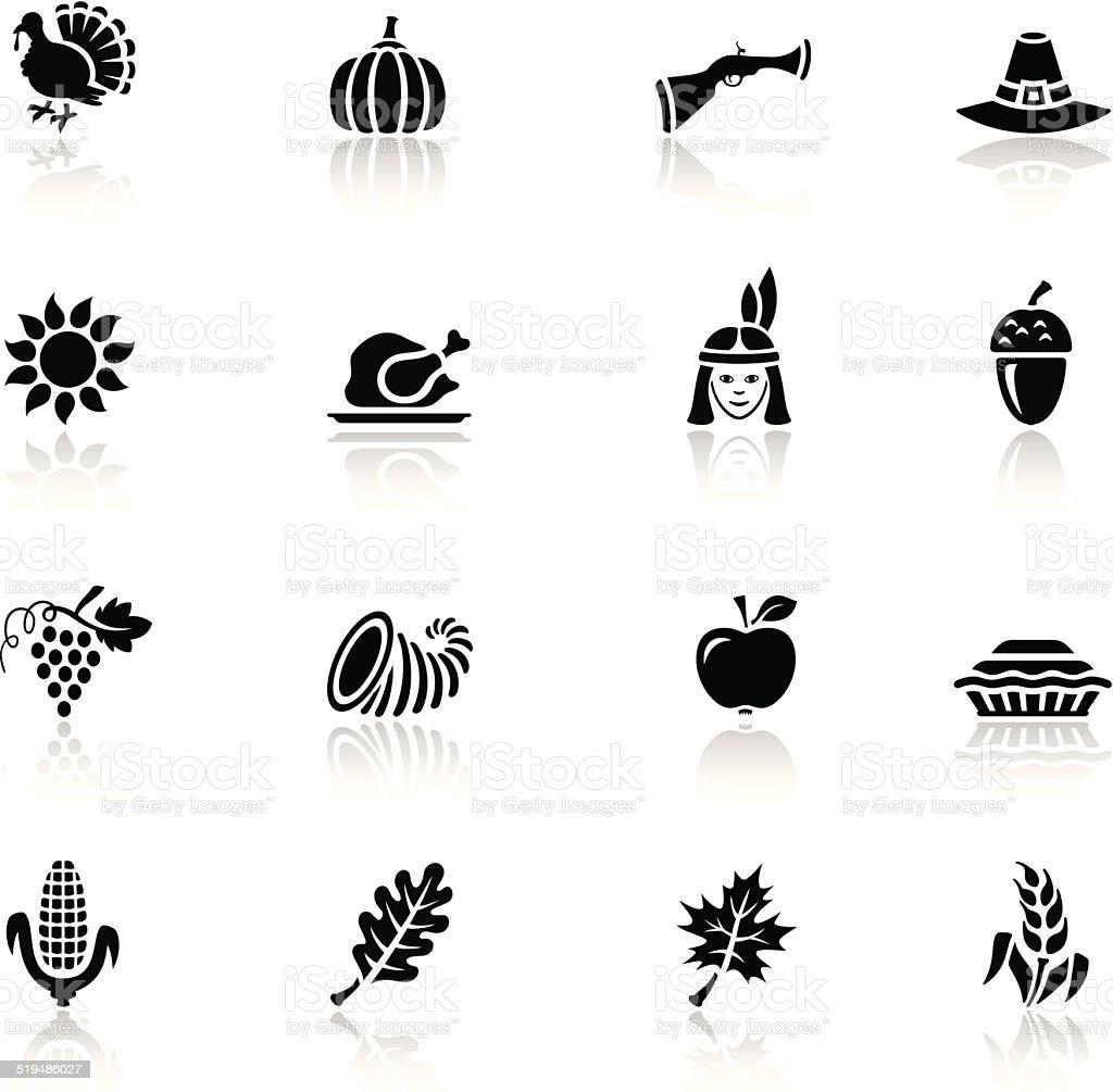 Thanksgiving Icon Set vector art illustration