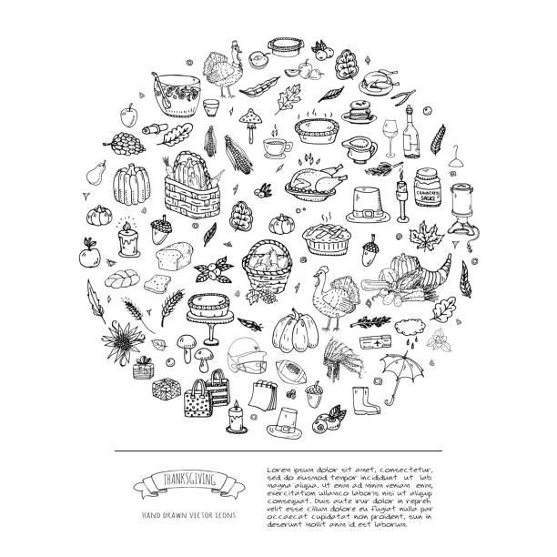 感恩節的圖示設置 - pumpkin pie 幅插畫檔、美工圖案、卡通及圖標
