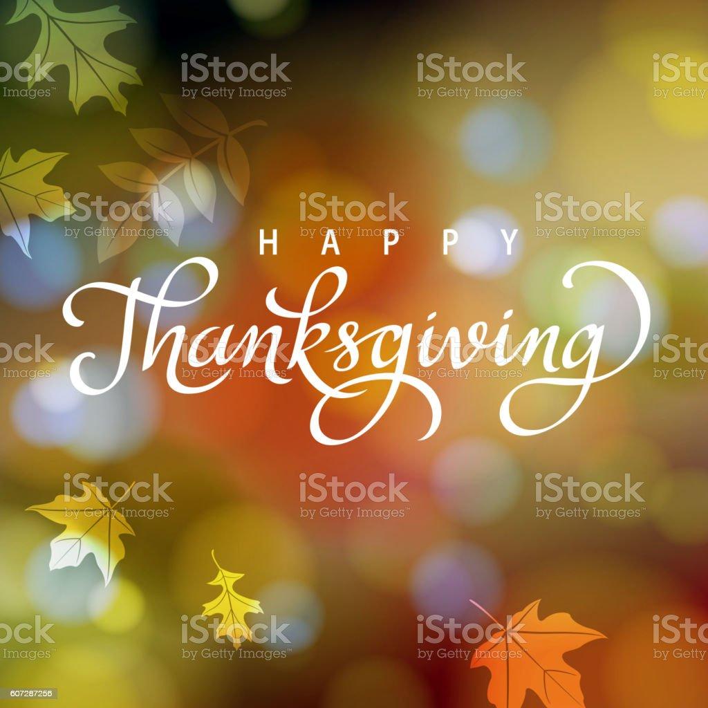 Thanksgiving in Autumn vector art illustration