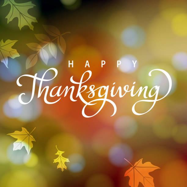 thanksgiving in autumn - blur background stock illustrations