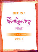 istock Thanksgiving Invitation Text Watercolor Frame 1279803536
