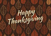Thanksgiving Leaves Background