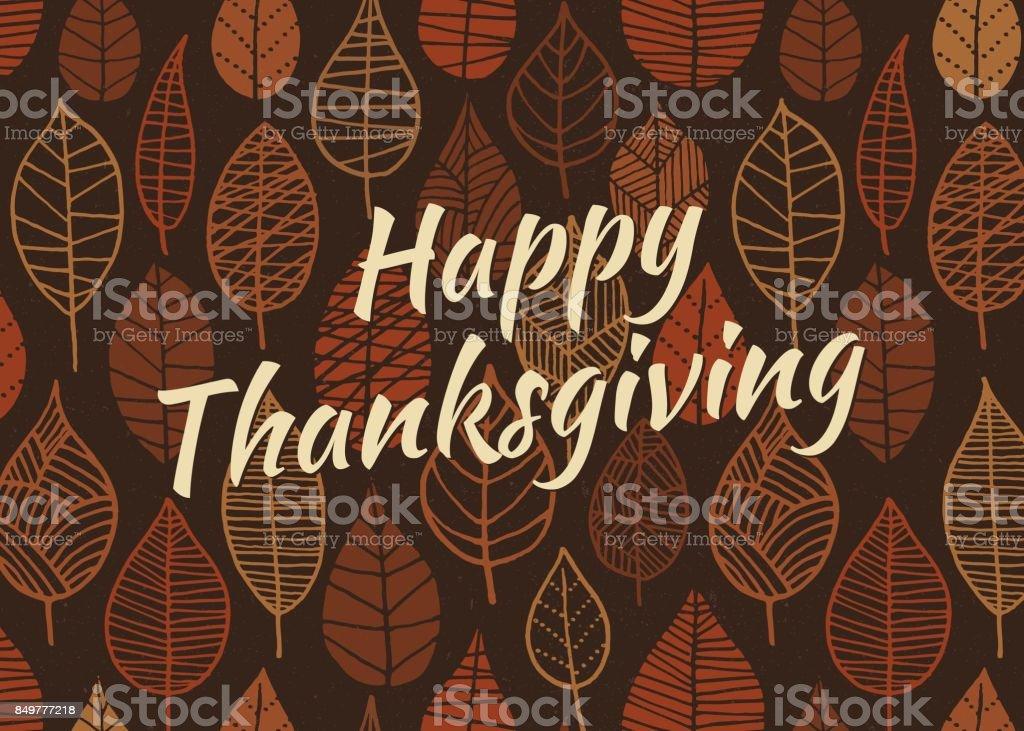Thanksgiving Leaves Background vector art illustration
