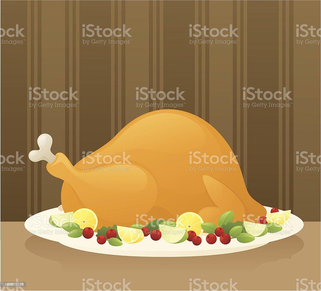 Thanksgiving Meal vector art illustration