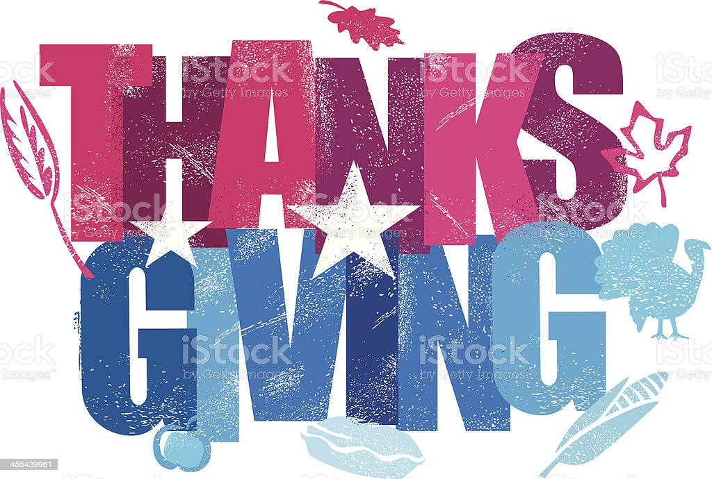 Thanksgiving Message royalty-free stock vector art