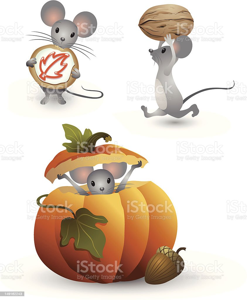 Thanksgiving Mouse royalty-free thanksgiving mouse stock vector art & more images of acorn