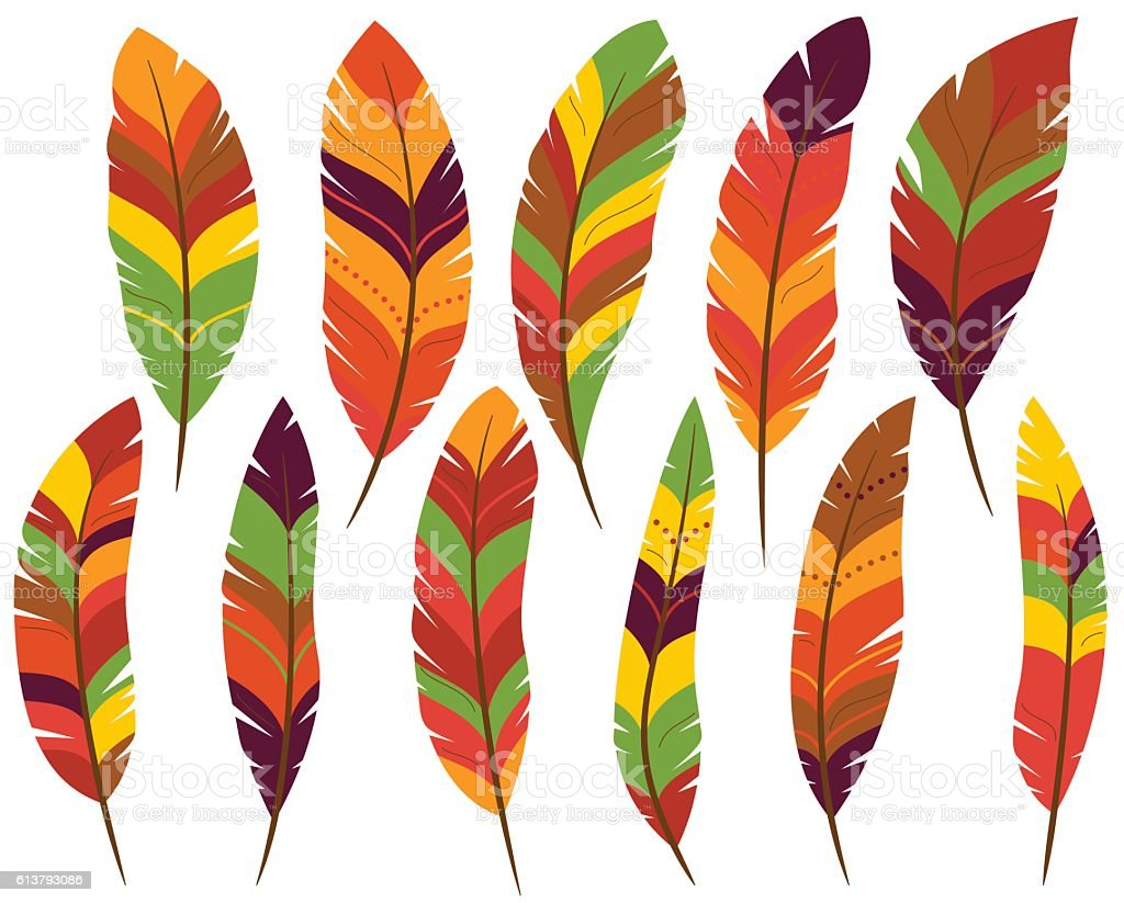 royalty free turkey feathers clip art vector images illustrations rh istockphoto com Turkey Feather Template Turkey Feather Template