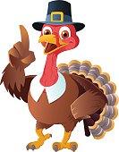 Thanksgiving Pilgrim Turkey Pointing