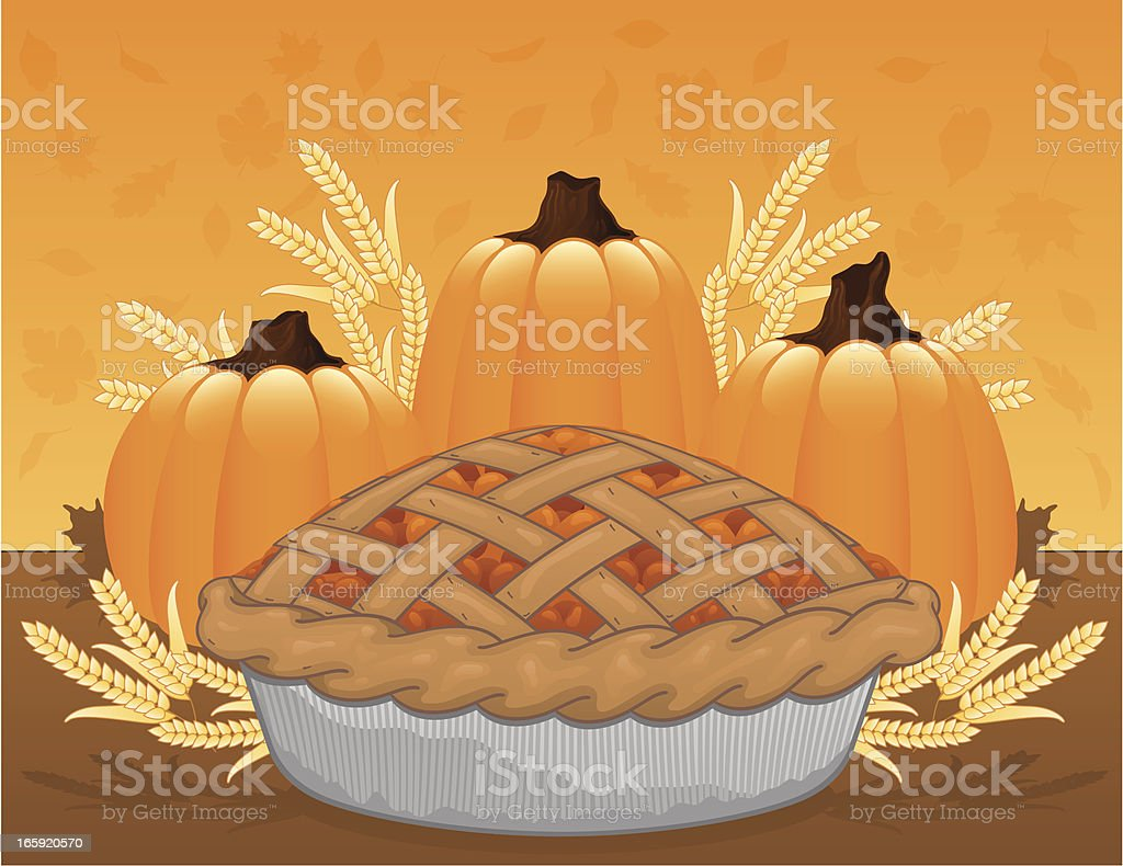 Thanksgiving Pumpkin Pie royalty-free thanksgiving pumpkin pie stock vector art & more images of autumn