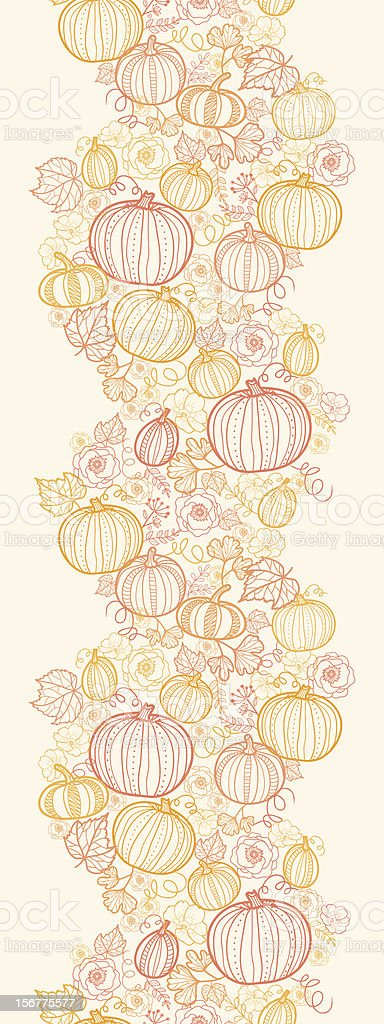 Thanksgiving Pumpkins Seamless Pattern Vertical Background royalty-free thanksgiving pumpkins seamless pattern vertical background stock vector art & more images of autumn