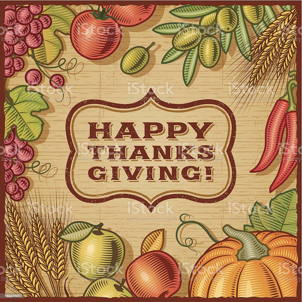 Thanksgiving Retro Card royalty-free stock vector art