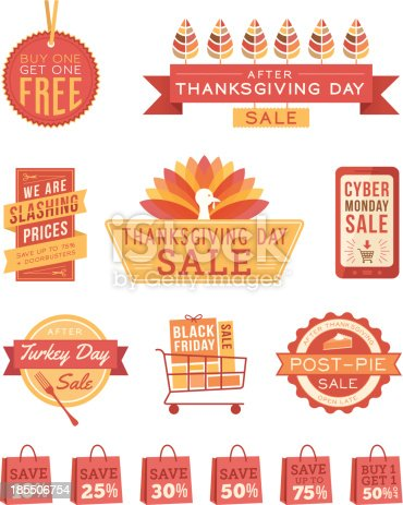 istock Thanksgiving Sale Banners 185506754