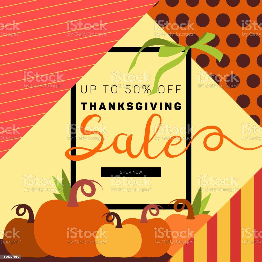 thanksgiving sale brochure design layout banner poster flyer stock
