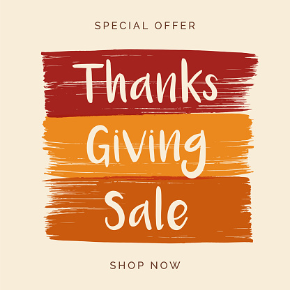 Thanksgiving Sale design for advertising, banners, leaflets and flyers.