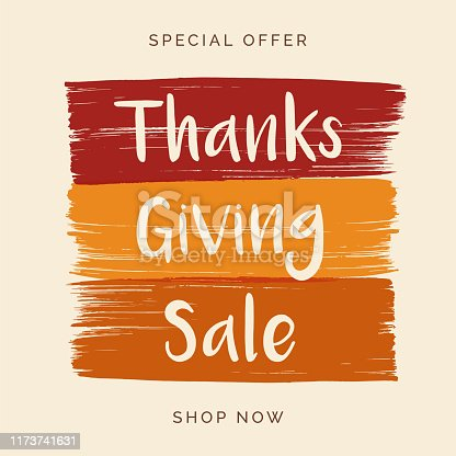 istock Thanksgiving Sale design for advertising, banners, leaflets and flyers. 1173741631