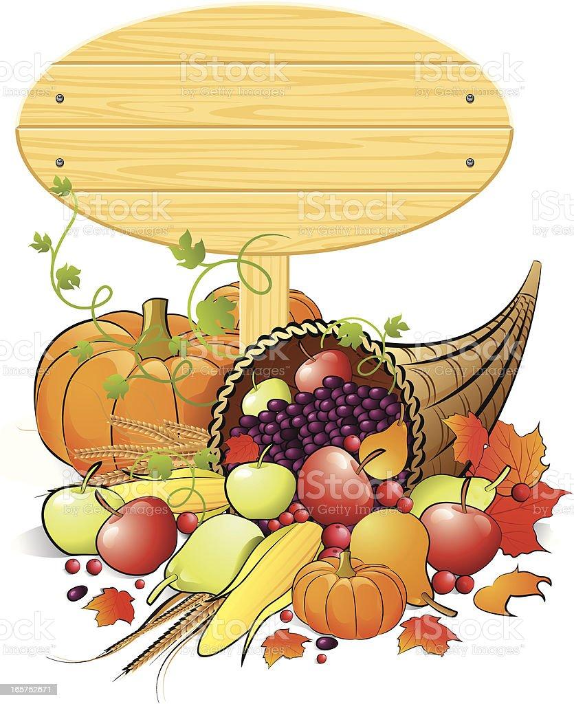 Thanksgiving Sign Banner royalty-free stock vector art