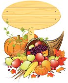 Illustration of beautiful Thanksgiving Sign Banner, all elements is individual objects. No transparencies, contains AI and jpeg, user can edit easily, please view my profile.