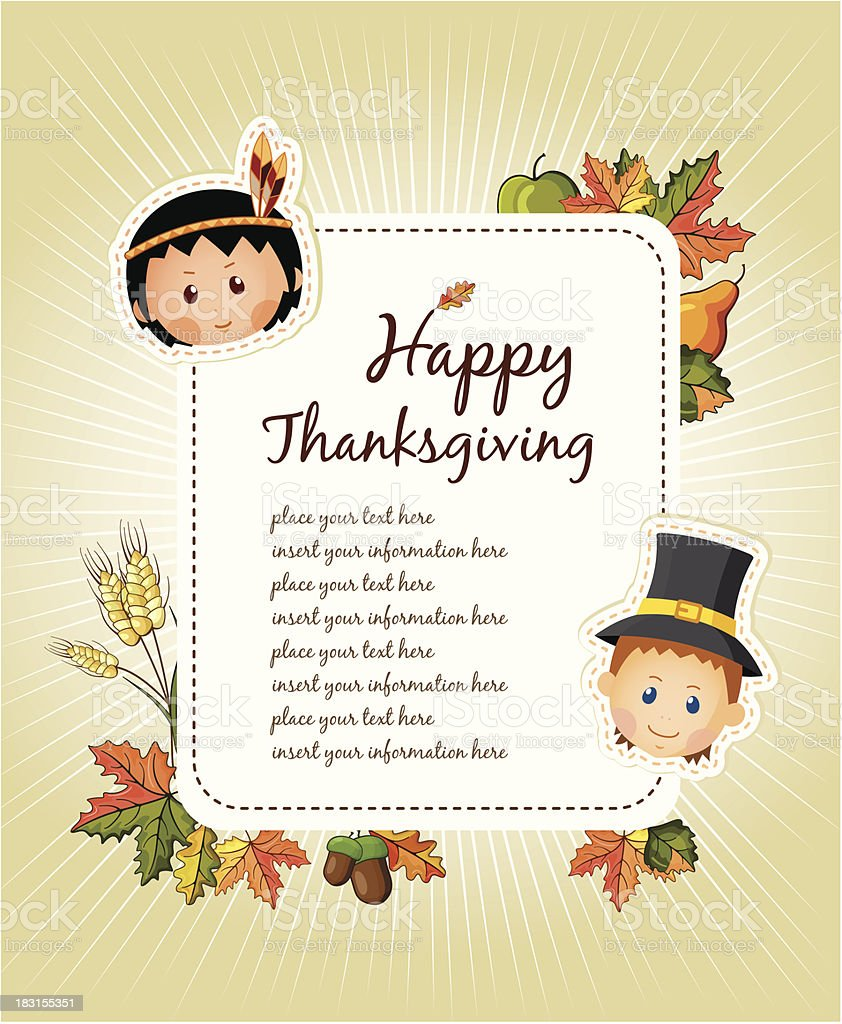 Thanksgiving text royalty-free stock vector art
