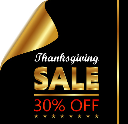 Thanksgiving Thirty Percent Sale On Golden Black Curled Luxury Paper