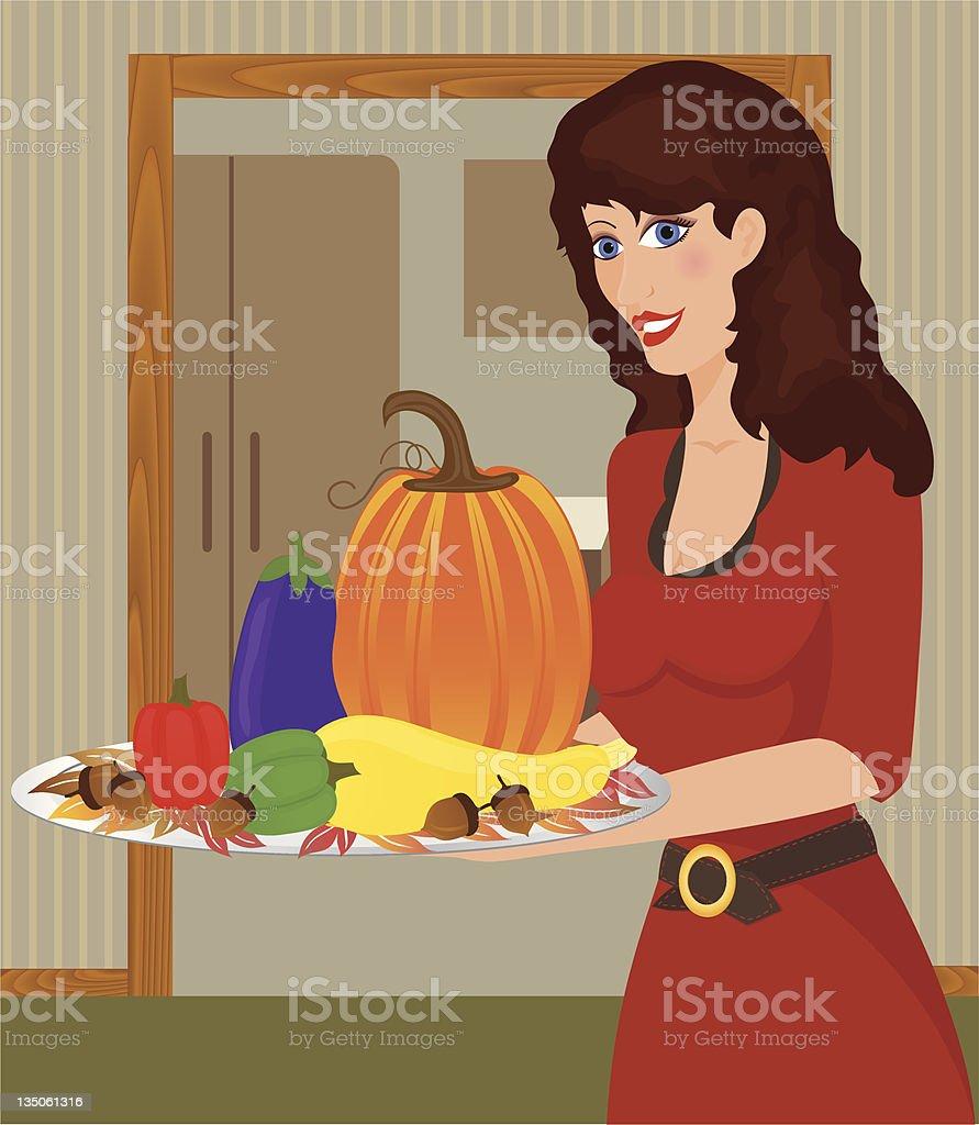 Thanksgiving Tray royalty-free stock vector art