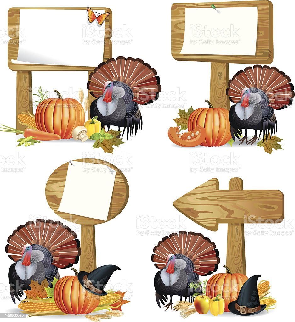 Thanksgiving turkey board royalty-free thanksgiving turkey board stock vector art & more images of abundance