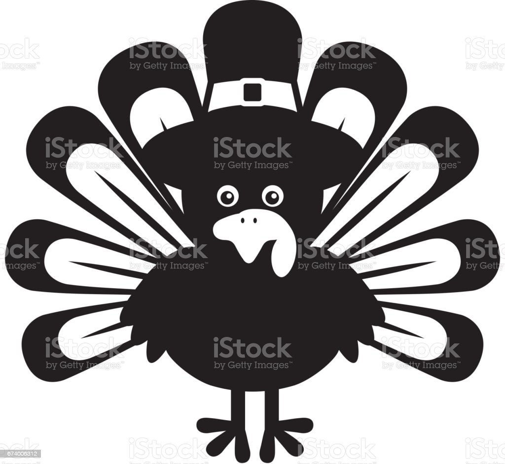 Thanksgiving turkey character icon royalty-free thanksgiving turkey character icon stock vector art & more images of animal