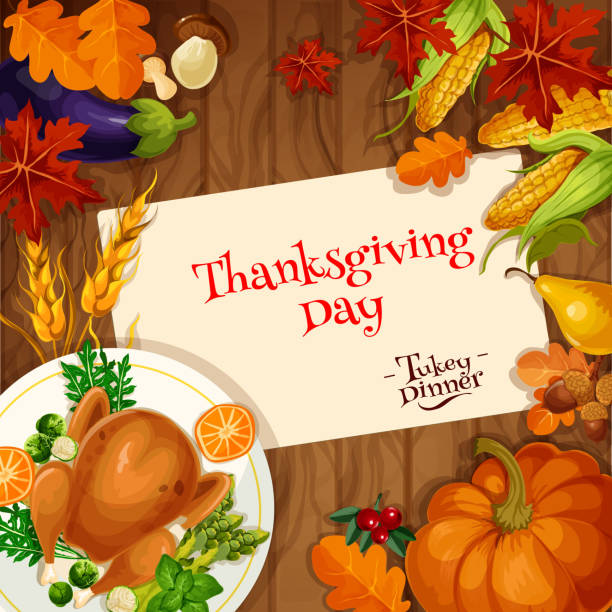 Best Thanksgiving Table Illustrations, Royalty-Free Vector ...