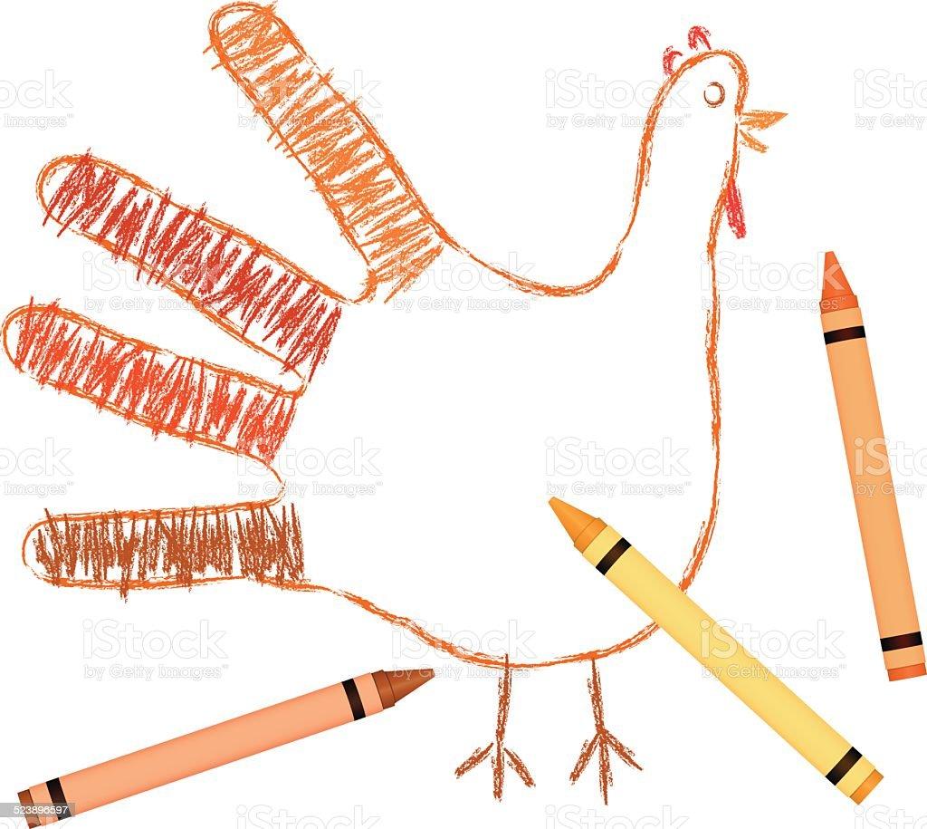 Thanksgivingtruthahn Hand Stock Vektor Art und mehr Bilder von ...