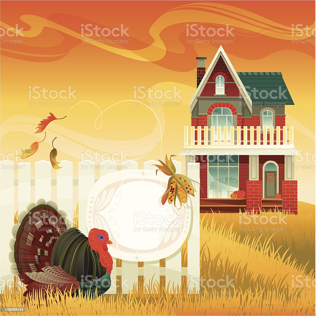 Thanksgiving Turkey Invitation royalty-free thanksgiving turkey invitation stock vector art & more images of american culture