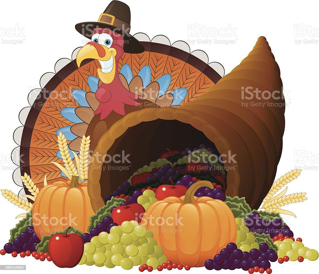 Thanksgiving Turkey vector art illustration