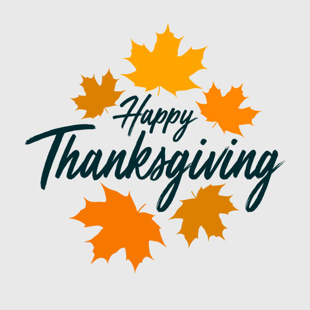 Thanksgiving typography banner vector art illustration